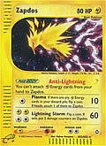 Zapdos aus dem Set E-Aquapolis
